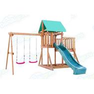 Игровая площадка BABYGARDEN с балконом и горкой 2.4 м, фото 1