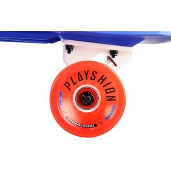 Лонгборд пластиковый PLAYSHION FS-PL001B (Синий), фото 4