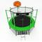 Большой уличный батут на металлокаркасе - i-JUMP BASKET 16ft GREEN, секта, мат, кольцо, лестница, складной каркас, фото 1